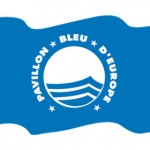 blue flag for beach quality guaranty