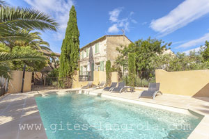 private pool rental Serignan Occitanie