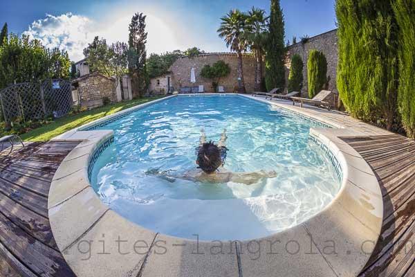 gite avec piscine sérignan